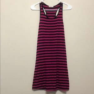Striped razor back dress